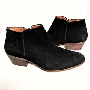 Sam Edelman black suede 'Petty' ankle booties